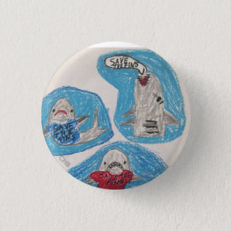 Save the Fins Pinback Button