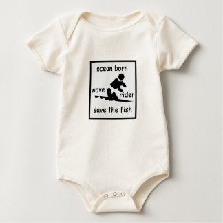 Save the Fish - Blue Baby Bodysuit