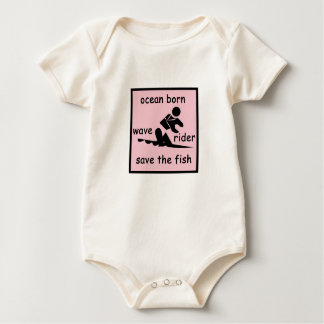 Save The Fish - Girl Baby Bodysuit