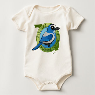 Save the Florida Scrub-Jay Baby Bodysuit