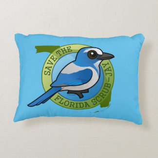 Save the Florida Scrub-Jay Accent Pillow