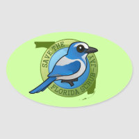 Save the Florida Scrub-Jay Oval Sticker