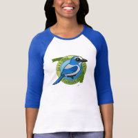Save the Florida Scrub-Jay Ladies Raglan Fitted T-Shirt