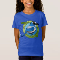 Save the Florida Scrub-Jay Girls' Fine Jersey T-Shirt