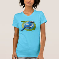 Save the Florida Scrub-Jay Women's American Apparel Fine Jersey Short Sleeve T-Shirt