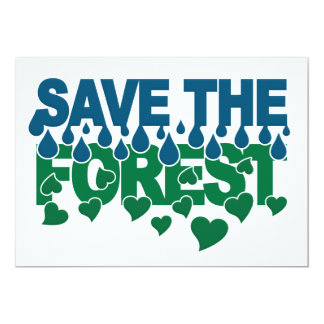Save The Forest invitation - customize