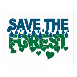 Save The Forest postcard - customize