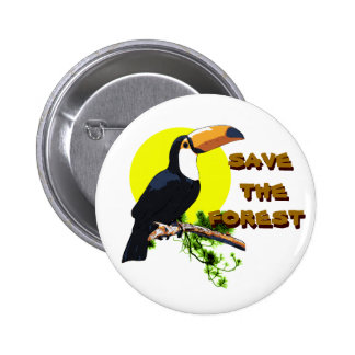 Save the Forest - Toucan Pinback Button
