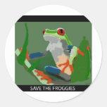 Save the Froggies Classic Round Sticker