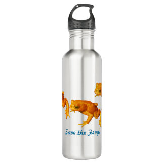 Save the Frogs Bright Orange An Extinct Toad Stainless Steel Water Bottle