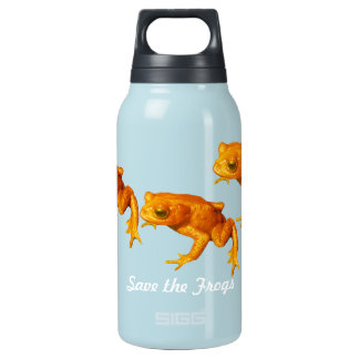 Save the Frogs Bright Orange An Extinct Toad Thermos Bottle