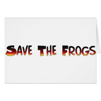 save the frogs card