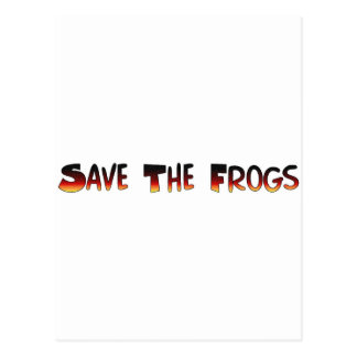 save the frogs postcard