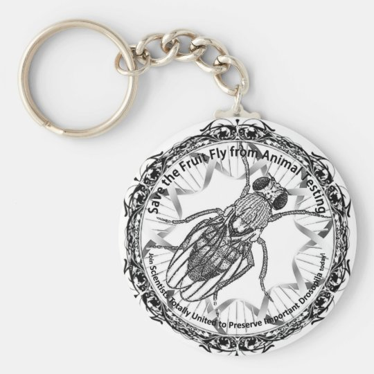 Save the fruit fly keychain