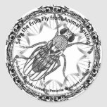 Save the fruit fly stickers