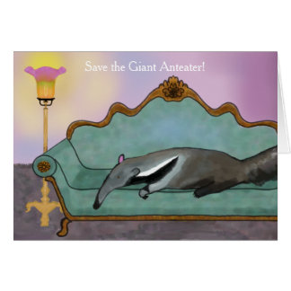 Save the Giant Anteater Card