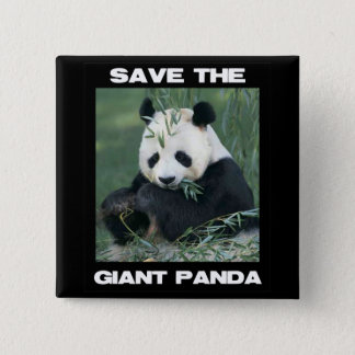 Save the Giant Panda Button