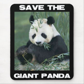Save the Giant Panda Mouse Pad