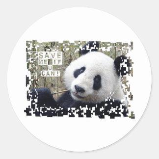 Save The Giant Panda Round Sticker