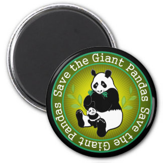 Save the Giant Pandas 2 Inch Round Magnet