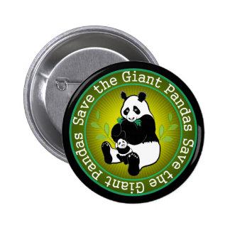 Save the Giant Pandas Pinback Buttons