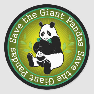 Save the Giant Pandas Classic Round Sticker