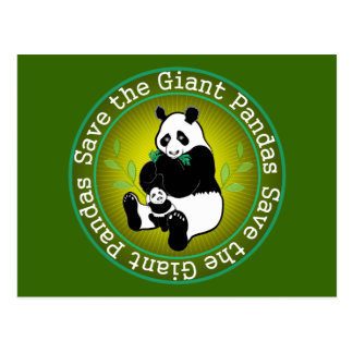 Save the Giant Pandas Postcard