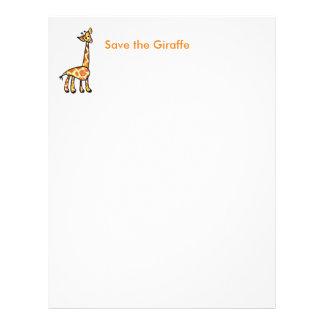 Save the Giraffes Letterhead