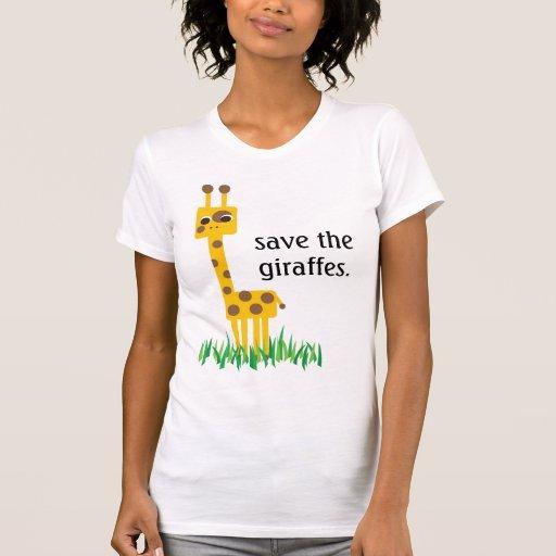save the giraffes tees