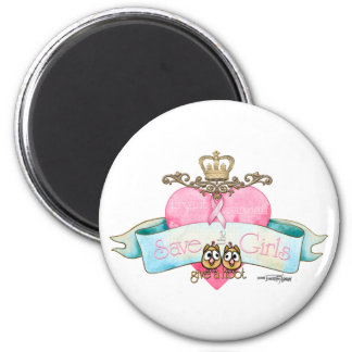 Save the Girls - Give a Hoot 2 Inch Round Magnet