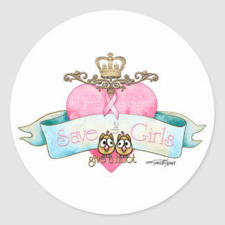Save the Girls - Give a Hoot Classic Round Sticker