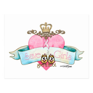 Save the Girls - Give a Hoot Postcard