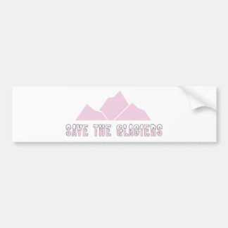 save the glaciers bumper sticker