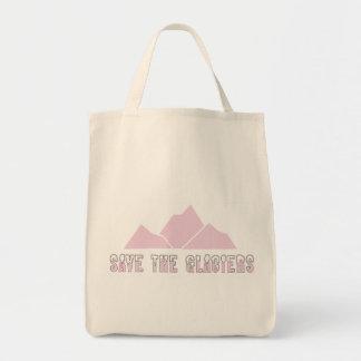 save the glaciers tote bag