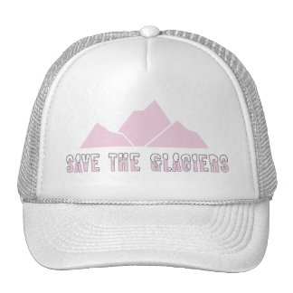save the glaciers trucker hat