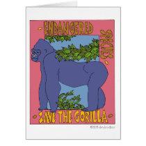 Save The Gorilla Card