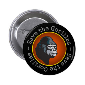 Save the Gorillas 2 Inch Round Button