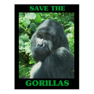 Save the Gorillas Postcard