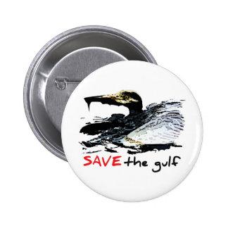 Save the gulf 2 inch round button