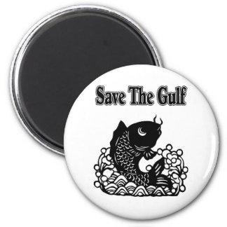 save the gulf 2 inch round magnet