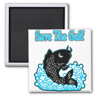 SAVE THE GULF 2 INCH SQUARE MAGNET