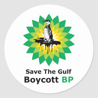 Save The Gulf Boycott BP Classic Round Sticker