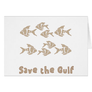 Save The Gulf - Brown School of Fish Greeting Card