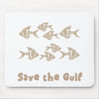 Save The Gulf - Brown School of Fish Mousepads