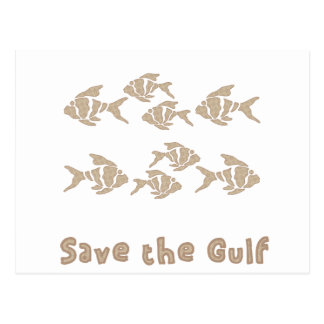 Save The Gulf - Brown School of Fish Postcard