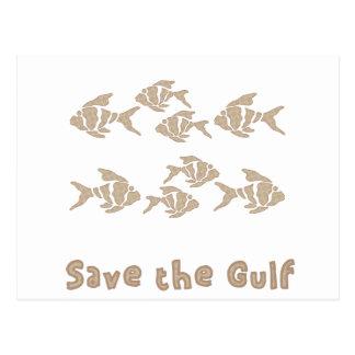 Save The Gulf - Brown School of Fish Postcard