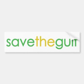 save the gulf car bumper sticker
