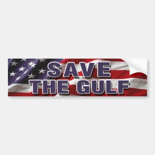 SAVE THE GULF Bumper Sticker Car Bumper Sticker