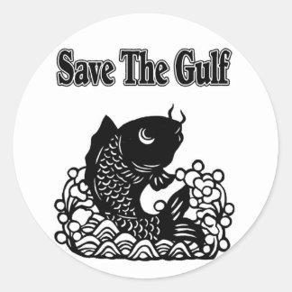 save the gulf classic round sticker