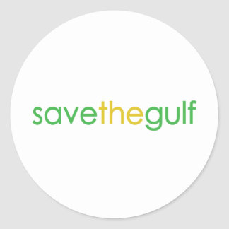 save the gulf classic round sticker